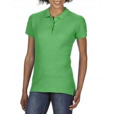 Tricou polo verde GILDAN pentru dama
