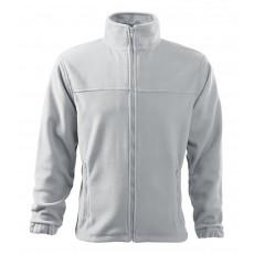 Jacheta fleece alba, pentru barbati