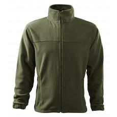 Jacheta fleece verde militar, pentru barbati