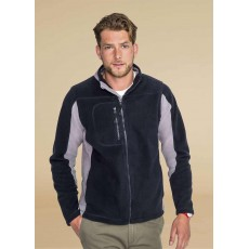 Jacheta fleece bicolora pentru barbati
